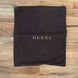Gucci L rare dust bag cover travel 16.5 x 19 gold
